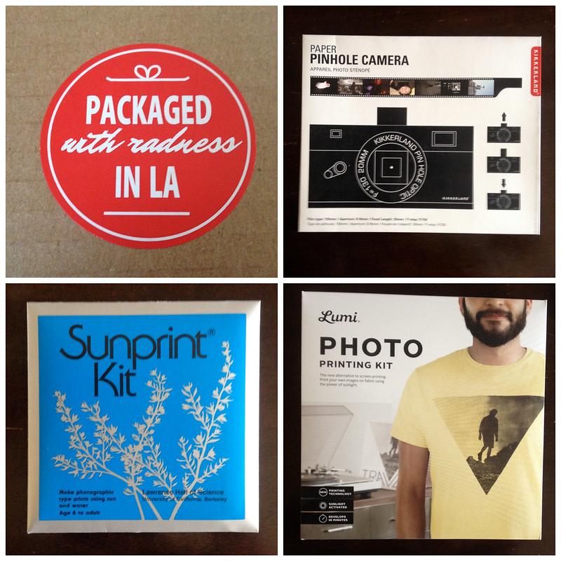 sunprint kit, photo kit, pinhole camera, quarterly co., subscription box, review, never fully dressed, withoutastyle,