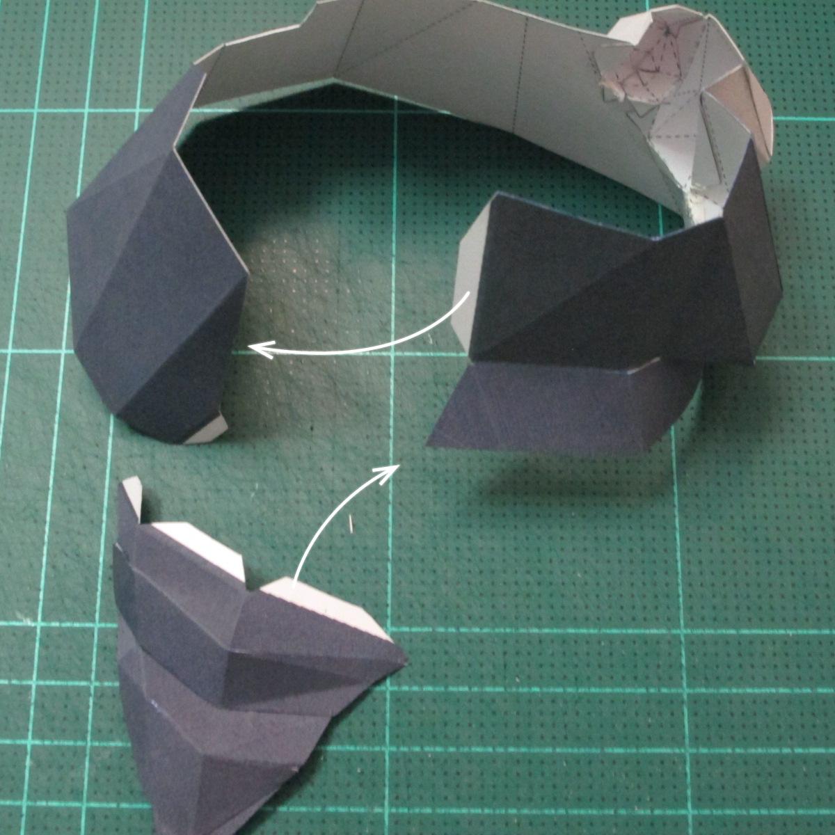 วิธีทำโมเดลกระดาษของเล่นคุกกี้รัน คุกกี้รสพ่อมด (Cookie Run Wizard Cookie Papercraft Model) 039