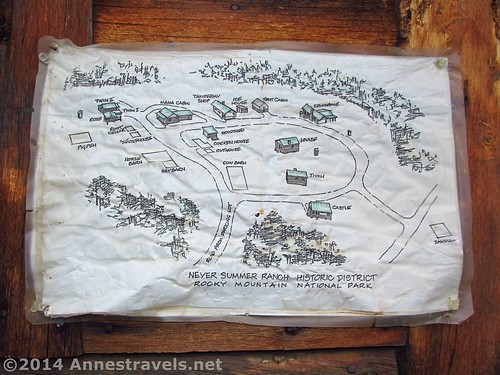 Map of the Holzwarth Historic Site, Rocky Mountain National Park, Colorado