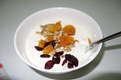 meal(0.0), plant(0.0), produce(0.0), fruit(0.0), breakfast cereal(1.0), breakfast(1.0), food(1.0), dish(1.0), dessert(1.0), muesli(1.0),