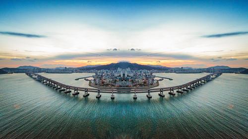 Gwangan Bridge Reflection