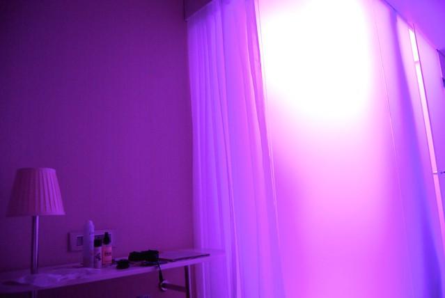 citizenM Bankside Purple Mood Lighting