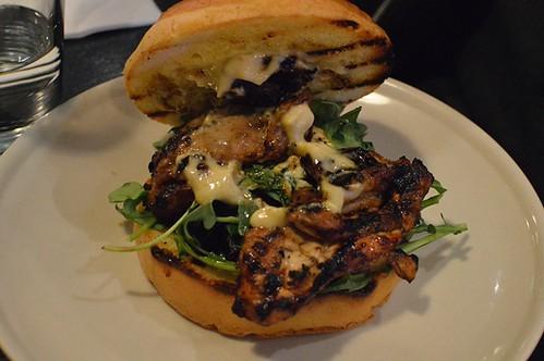 Burger 10: Smoked chicken thigh burger