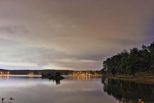 lake night landscape arkansas hdr jonesboro