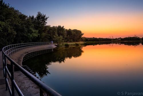 park sunset sky lake water texas unitedstates trail plano vr