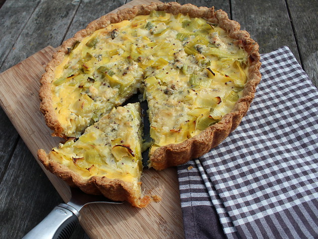 Leek & Stilton Tart with Wholemeal Yoghurt Pastry