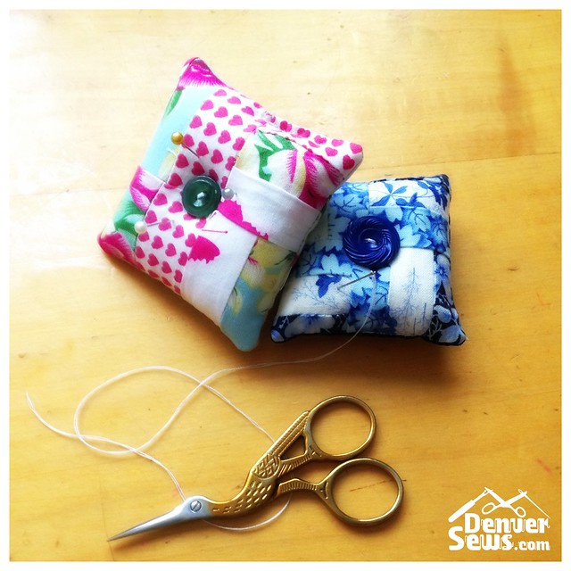 Pin Cushions - Sewing on the road - Denver Sews