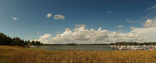 sky cloud espoo finland boat skata suvisaaristo