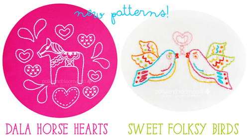 New patterns: Dala Horse andSweet Folksy Birds