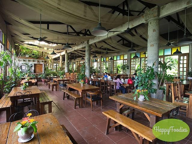 Lovely interior of the restaurant