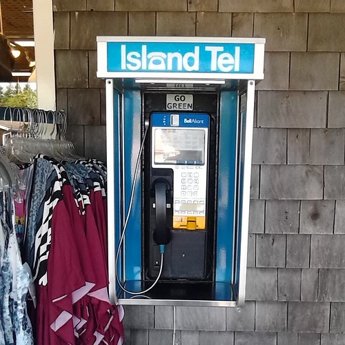 Island Tel pay phone,  Cavendish Boardwalk  #princeedwardisland #pei #cavendish #telephones #islandtel #payphone