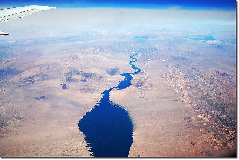 Looking down Colorado River from the air 32