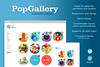 Pop Gallery WordPress Theme (promo images)