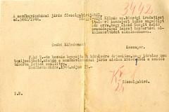 VI/7.d. Kaszaperi nyugalmazott keresztény tisztviselő, egyedül visszamaradt zsidó leányt, Sinkó Margitot szeretné alkalmazni, elutasították