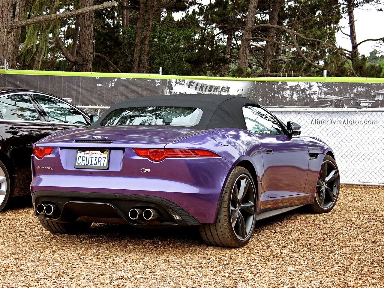 Purple Jaguar F-Type R Roadster Rear