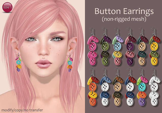 Button Earrings Full Set Release