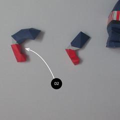 วิธีทำของเล่นโมเดลกระดาษกับตันอเมริกา (Chibi Captain America Papercraft Model) 023