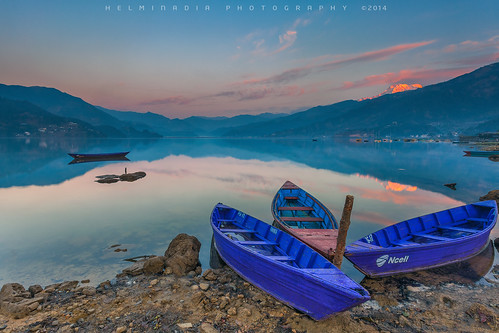 travel nepal lake sunrise boats pokhara 2013