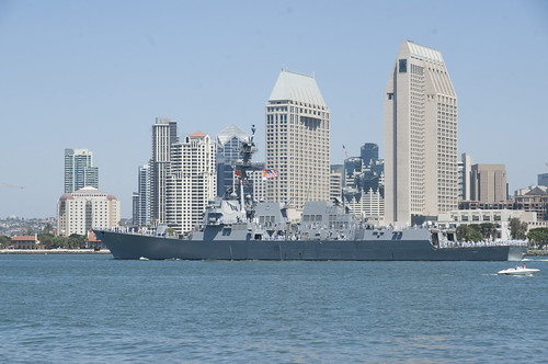 SAN DIEGO (Aug. 22, 2014) – The guided missile destroyer USS Sterett (DDG 104) departs San Diego for a scheduled deployment to the Western Pacific and U.S. Central Command area of responsibility.