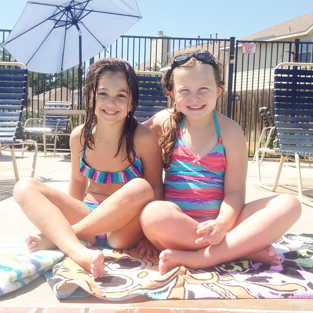 One of Emma's besties...one more fun day of summer fun before school starts tomorrow!