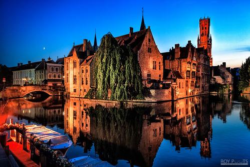 Beautiful old city Bruges in Belgium