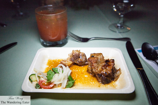 Adobo by Chef King Phojanakong, paired with Rizal's Ruin cocktail