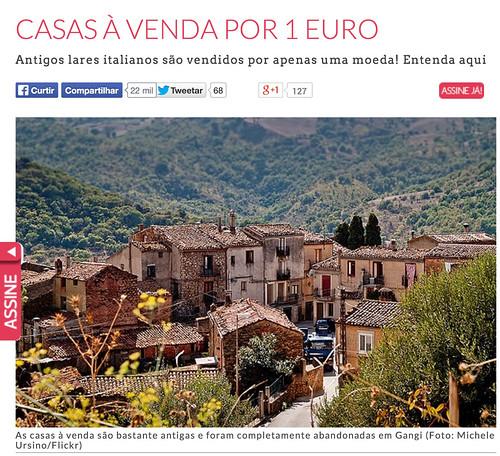 Casas Por 1 Euro na Itália