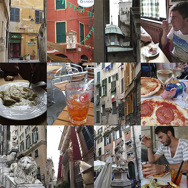 mosaïque billet Genova