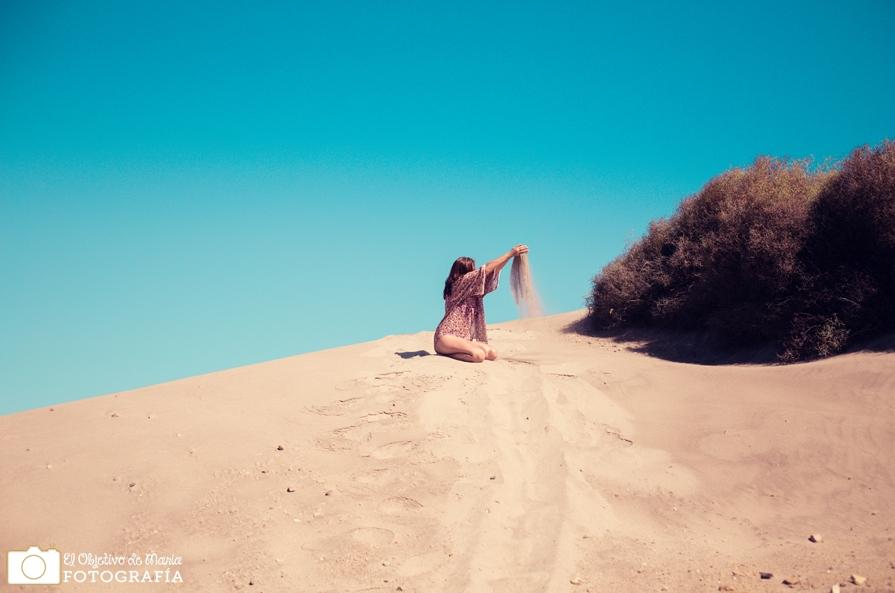 Dunas de arena en el cabo de gata