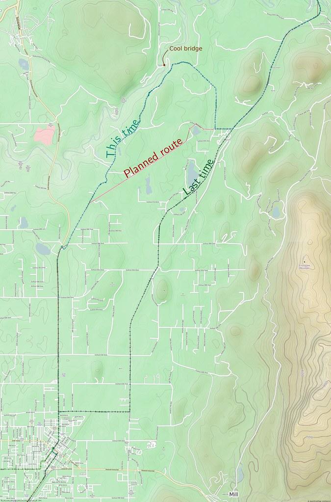 Comparison of Routes Around Cumberland