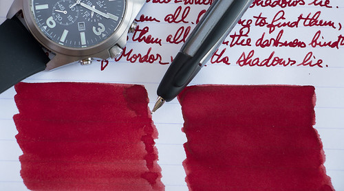 Diamine Red Dragon shading