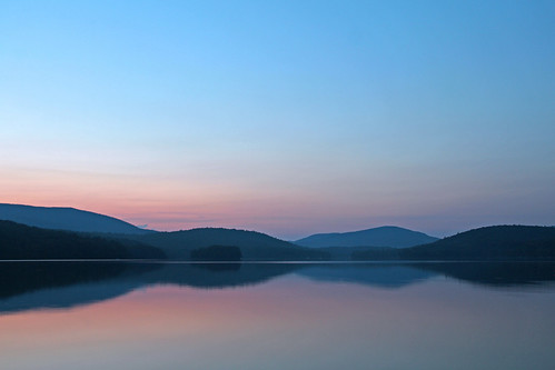 Blue dusk on Goose Pond
