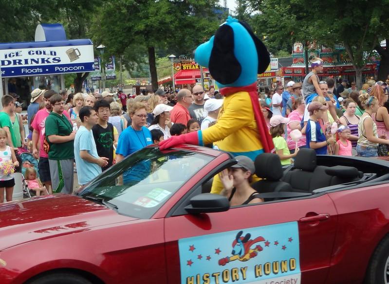 Minnesota Historical Society's History Hound in the parade