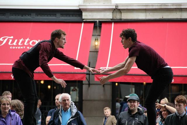 Dancers from Luca Silvestrini's Protein in Windows in Progress © ROH 2014