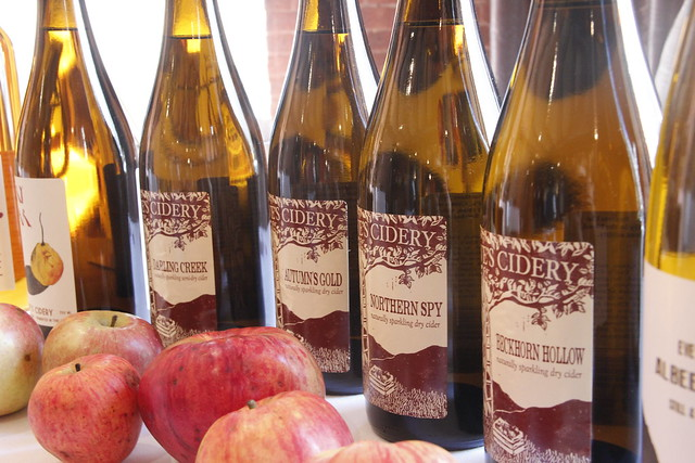 Hard ciders at a tasting