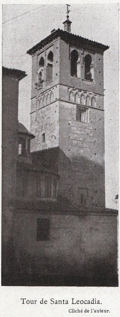 Torre de Santa Leocadia a comienzos del siglo XX. Fotografía de Élie Lambert publicada en su libro Les Villes d´Art Célebres: Tolède (1925)