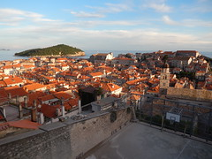 Old Dubrovnik from the city wall, Croatia