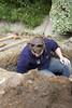 Cat excavating Pit 4 day 4