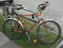 A Rivendell All-Rounder, and coupled too. This bike belongs to the owner of Free Range Cycles in Seattle.