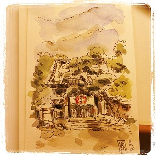 #japon #pfj #carbon #watercolor first postcard from japan
