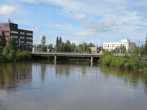usa alaska fairbanks chenariver cushmanstreetbridge