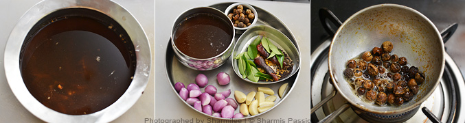 How to make vathal kuzhambu - Step1