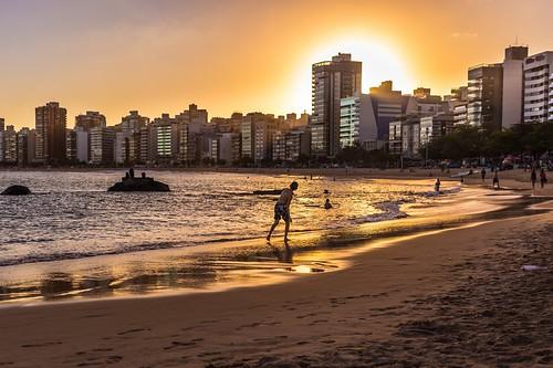 sunset brazil beach water brasil 40mm espiritosanto vilavelha