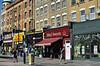 Blackstock Road in Finsbury Park, London, UK