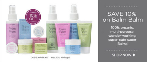 love lula balm balm, organic beauty week discounts part II