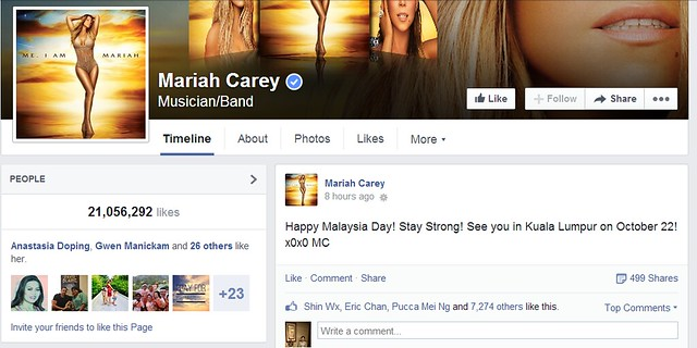 Mariah Carey Wishes 'Happy Malaysia Day' Message