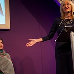JK Rowling introduces Malala Yousafzai at the Edinburgh International Book Festival |