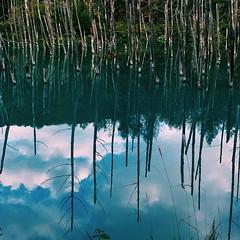 Clear Lake #blue #sky #lake #japan