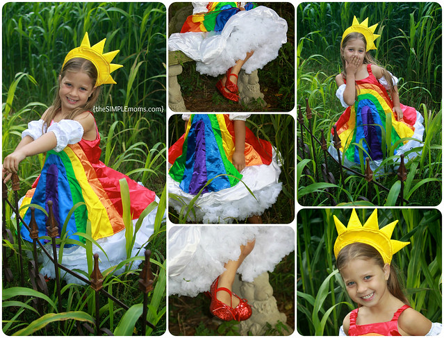 chasing fireflies over the rainbow costume logo