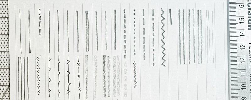 Pencil lines on paper